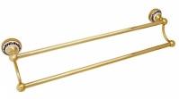 Подробнее о Полотенцедержатель Fixsen Bogema Gold FX-78502G двойной длина 61 см золото