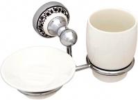 Подробнее о Стакан и мыльница Fixsen Bogema FX-78506-08 подвесные хром/керамика белая