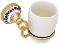 Подробнее о Стакан Fixsen Bogema Gold FX-78506G подвесной золото/керамика белая