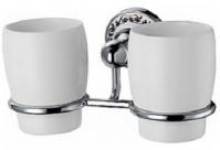 Подробнее о Стакан Fixsen Bogema FX-78507 подвесной двойной хром/керамика белая