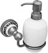 Подробнее о Дозатор для мыла Fixsen Bogema FX-78512 подвесной хром/керамика белая