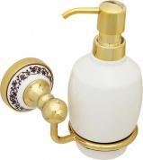 Подробнее о Дозатор для мыла Fixsen Bogema Gold FX-78512G подвесной золото/керамика белая