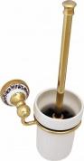 Подробнее о Ершик для туалета Fixsen Bogema Gold FX-78513AG подвесной золото/керамика белая