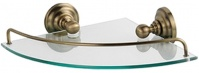 Подробнее о Полка Fixsen Retro FX-83803A стеклянная угловая 28 х 28 см бронза/стекло матовое