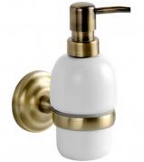 Подробнее о Дозатор для мыла Fixsen Retro FX-83812 подвесной бронза/керамика белая