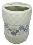 Подробнее о Стакан Fixsen Mazy FX-A235-D2-2 настольный для зубных щеток цвет белый с декором