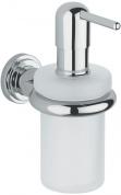 Подробнее о Дозатор жидкого мыла Grohe Atrio 40306000 настенный хром /стекло матовое