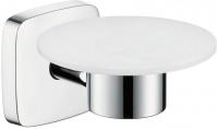 Подробнее о Мыльница Hansgrohe Puravida 41502000 настенная хром / керамика белая