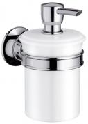 Подробнее о Дозатор Hansgrohe Ax Montreux 42019000 для жидкого мыла настенный хром / керамика белая