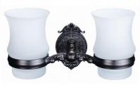 Подробнее о Стакан Hayta Gabriel 13905G/VBR подвесной двойной Antic Brass (состаренная латунь/стекло