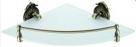 Подробнее о Полка Hayta Gabriel  13910-1/BRONZE угловая стеклянная  бронза