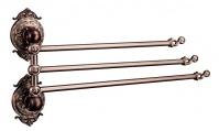 Подробнее о Полотенцедержатель Hayta Gabriel 13930-3/VBR тройной поворотный Antic Brass (состаренная латунь