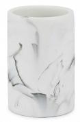 Подробнее о Стакан Kassatex Arabesco White/Black AAB-T-WB настольный цвет белый мрамор