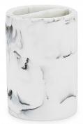 Подробнее о Стакан Kassatex Arabesco White/Black AAB-TBH-WB настольный двойной цвет белый мрамор