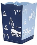 Подробнее о Корзина Kassatex Construction AKC-WB для мусора цвет синий