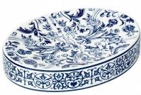 Подробнее о Мыльница Kassatex Orsay Blue AOR-SD-BLU настольная цвет белый с узором