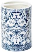 Подробнее о Стакан Kassatex Orsay Blue AOR-TBH-BLU настольный двойной цвет белый с узором