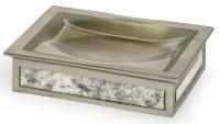 Подробнее о Мыльница Kassatex Palazzo Vintage Mirror APL-SD настольная цвет серый