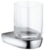 Подробнее о Стакан Keuco Solo 01549 016000 подвесной хром/стекло прозрачное