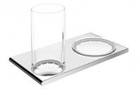 Подробнее о Cтаканчик с мыльницей Keuco Edition 400 11556 019000 подвесные хром / стекло