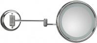 Подробнее о Зеркало Koh-i-Noor Lucciolo 20/2KK3 косметическое 46 х h24 см (3X настенное (скрытая проводка) хром