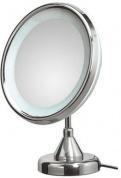 Подробнее о Зеркало Koh-i-Noor Spekhio Lucciolo 22/1KK2 косметическое 24 х h33 см (2X настольное с подсветкой хром