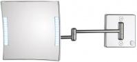 Подробнее о Зеркало Koh-i-Noor Quadrololed 60/2KK3 косметическое 46 х h20 см (3X настенное с подсветкой хром