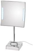 Подробнее о Зеркало Koh-i-Noor Quadrololed 62/1KK3 косметическое 20 х h41 см (3X настольное с подсветкой хром