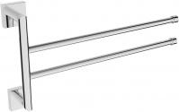 Подробнее о Полотенцедержатель Linisi Cubo 810024DH-2-B двойной поворотный 35 см хром