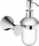 Подробнее о Дозатор для мыла Linisi Lira 83385F-A подвесной хром / стекло