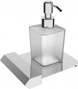 Подробнее о Дозатор для мыла Linisi Linea 87785F настольный хром / стекло матовое