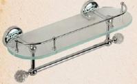 Подробнее о Полка Migliore Amerida  ML.AMR-60.429.CR стеклянная 36 см хром/Swarovski