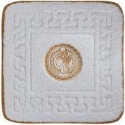 Подробнее о Коврик Migliore Complementi ML.COM-50.060.BI.53 для ванны (узор 5) 60 х 60 см цвет белый с вышивкой `Афина` золото