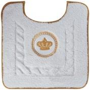 Подробнее о Коврик Migliore Complementi ML.COM-50.PWC.BI.24 для унитаза (узор 2) цвет белый с вышивкой `корона` золото
