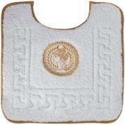 Подробнее о Коврик Migliore Complementi ML.COM-50.PWC.BI.53 для унитаза (узор 5) цвет белый с вышивкой `Афина` золото