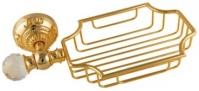 Подробнее о Мыльница Migliore Cristalia ML.CRS-60.225.DO настенная золото/Swarovski