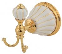 Подробнее о Крючок Migliore Olivia ML.OLV-60.609.BO.DO двойной золото / керамика (декор золото