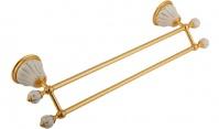Подробнее о Полотенцедержатель Migliore Olivia ML.OLV-60.623.BO.DO двойной длина 50 см золото / керамика (декор золото