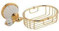 Подробнее о Мыльница-решетка Migliore Olivia ML.OLV-60.625.BO.DO настенная цвет золото / керамика (декор золото