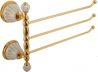 Подробнее о Полотенцедержатель Migliore Olivia ML.OLV-60.654.BO.DO тройной поворотный длина 35 см золото / керамика (декор золото