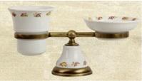 Подробнее о Cтакан и мыльница Migliore Provance ML.PRO-60.510.CR настольная хром / керамика