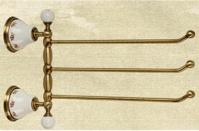 Подробнее о Полотенцедержатель Migliore Provance ML.PRO-60.554.CR тройной длина 35 см хром / керамика