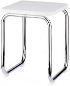 Подробнее о Стульчик Nicol Tim 1424900 для ванны душевой кабины хром / сиденье пластик белый