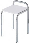 Подробнее о Стульчик Nicol Top-Set 1434200 для ванны душевой кабины высокий хром / сиденье пластик белый