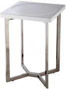 Подробнее о Стульчик Nicol Tom 1434700 для ванны душевой кабины хром / сиденье пластик белый