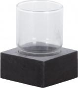 Подробнее о Стакан Nicol Petra 2182158 настольный натуральный камень (сланец / стекло прозрачное