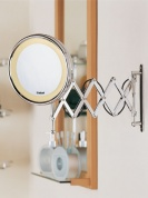 Подробнее о Зеркало Nicol Anna 4023400 косметическое настенное хром