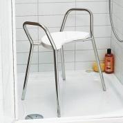 Подробнее о Стульчик Nicol Lena 604600 для ванны душевой кабины хром / сиденье пластик белый