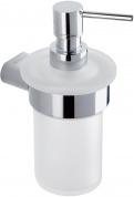 Подробнее о Дозатор Nicol Juno  7091900 подвесной для жидкого мыла хром / стекло матовое