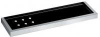 Подробнее о Полка Pomdor Urban 49.50.40.002ne стеклянная 40 см хром/стекло черное